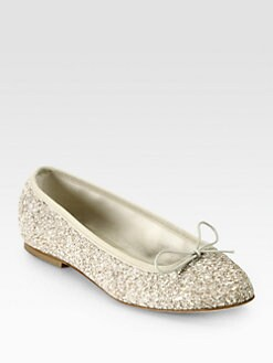 Anniel - Glitter Bow Ballet Flats