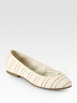 Anniel - Striped Canvas Ballet Flats