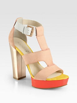 Boutique 9 - Rivington Mixed Media Platform Sandals