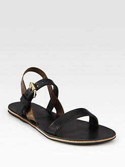 Acne - Fleur Leather Slingback Sandals