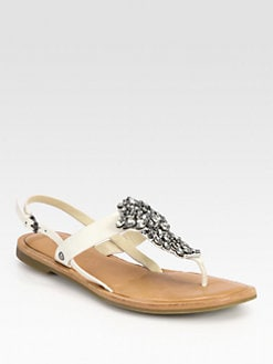 Vera Wang Lavender Label - Avy Jeweled Leather Sandals