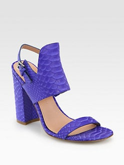 Sigerson Morrison - Coline Snake-Embossed Leather Sandals