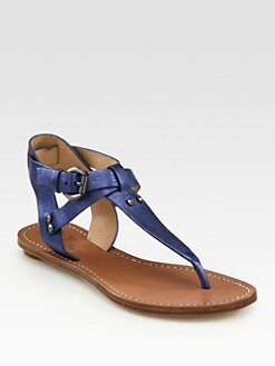 Belle by Sigerson Morrison - Randy Metallic Leather Sandals