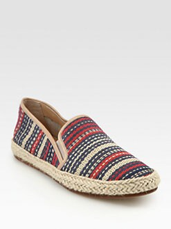 Belle by Sigerson Morrison - Nudie Woven Raffia & Leather Espadrilles