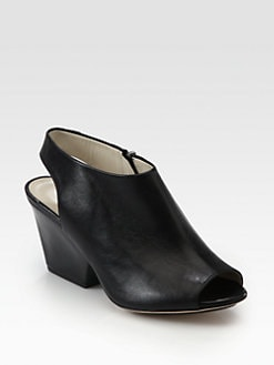 Charline De Luca - Delunay Leather Slingback Ankle Boots