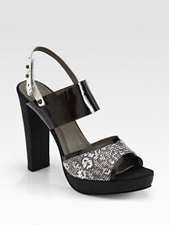 L'AGENCE - Lauren Lizard Platform Sandals