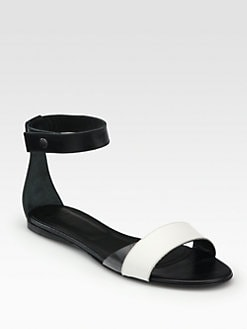 Tibi - Brandy Leather Ankle Strap Sandals