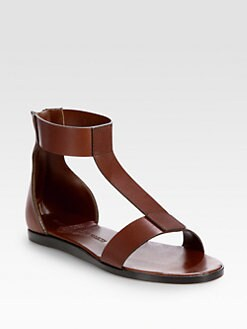 WOMAN BY COMMON PROJECTS - Leather T-Strap Sandals