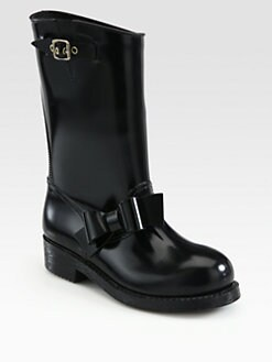 RED Valentino - Tall Bow-Trimmed Rain Boots