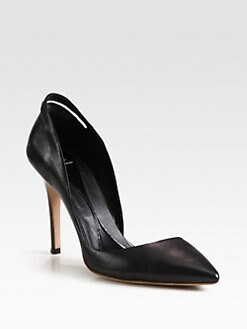 McQ Alexander McQueen - Slash Leather Pumps
