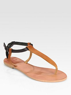 Joie - Shoal Leather T-Strap Sandals