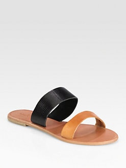 Joie - Sable Two-Tone Leather Sandals