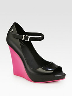 Melissa - Prism Bicolor PVC Wedge Pumps