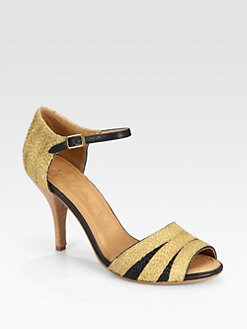 Joie - Laurel Raffia & Leather Sandals