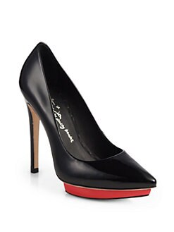 Alice + Olivia - Dallas Patent Leather Platform Pumps