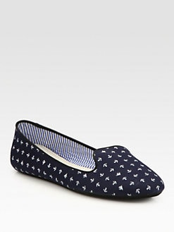 Charles Philip Shanghai - Anchor Canvas Smoking Slippers