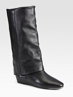 See by Chloe - Leather Fold-Over Boots