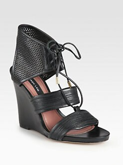 Derek Lam - Brooklyn Perforated Leather Wedge Sandals