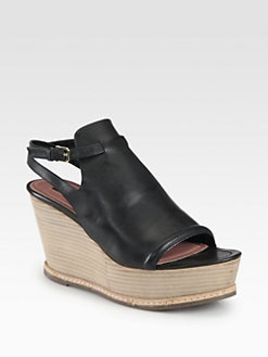 Derek Lam - Malta Leather Wedge Sandals