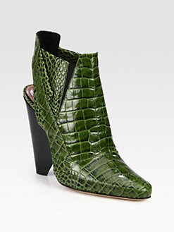 Derek Lam - Tate Crocodile-Embossed Leather Ankle Boots