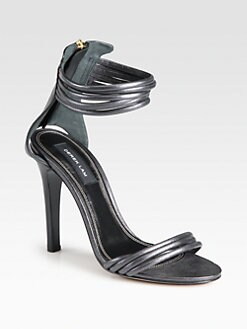 Derek Lam - Fallon Metallic Leather Ankle Strap Sandals