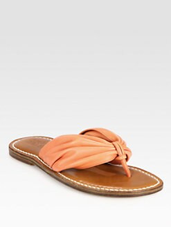Bernardo 1946 - Draped Leather Thong Sandals