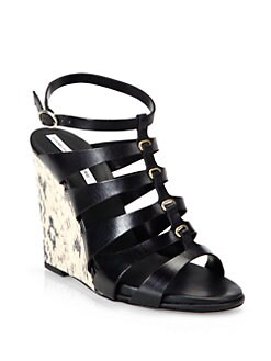 Diane von Furstenberg - Wave Open Back Wedge Sandals