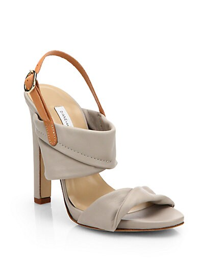 Jacey Leather Slingback Sandals