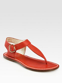 Bernardo 1946 - Eva Leather Thong Sandals