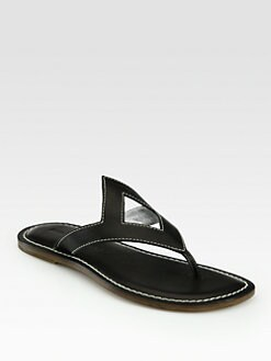 Bernardo 1946 - Diamond Leather Thong Sandals