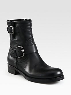 Alberto Fermani - Leather Buckle Motorcycle Boots