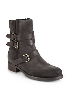 Alberto Fermani - Triumvirate Wrap-Buckle Leather Boots