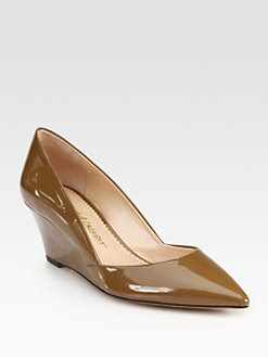Jean-Michel Cazabat - Patent Leather Point Toe Pumps