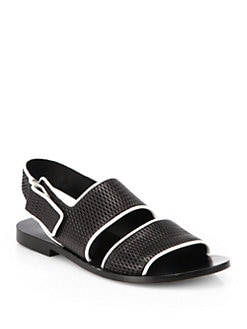 Alexander Wang - Eva Mesh Leather Sandals