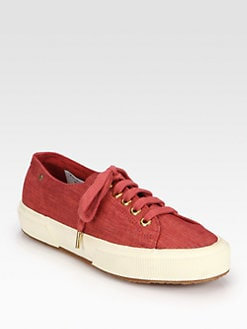 THE ROW FOR SUPERGA - Linen Lace-Up Sneakers