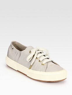 THE ROW FOR SUPERGA - Silk Faille Lace-Up Sneakers