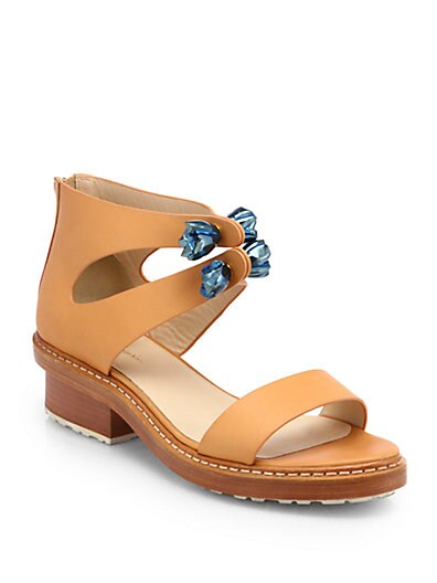 Cosmic Zip Leather Sandals