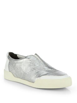 3.1 Phillip Lim - Morgan Metallic Leather Low-Top Sneakers