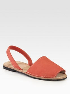 Ishvara - Nubuck Leather Slingback Sandals