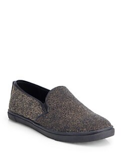 Alice + Olivia - Pamela Beaded Slip-On Sneakers