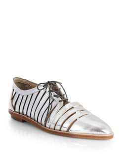 Loeffler Randall - Opal Mirrored Leather Oxfords