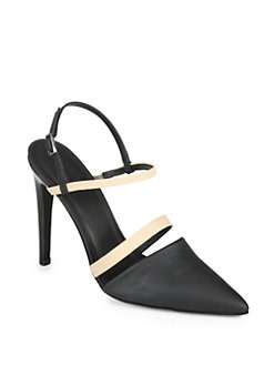Tibi - Esther Two-Tone Slingback Pumps