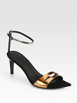 Tibi - Louis Metallic Leather Sandals