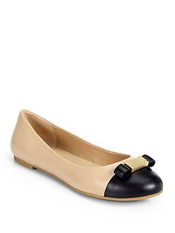 Marc by Marc Jacobs - Tuxedo Leather Ballet Flats