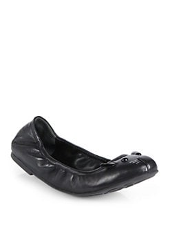 Marc by Marc Jacobs - Mouse Scrunchy Leather Ballet Flats