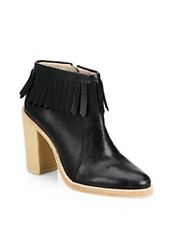 10 Crosby Derek Lam - Monet Leather Fringe Ankle Boots