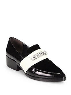 3.1 Phillip Lim - Jeweled Patent Leather Loafers