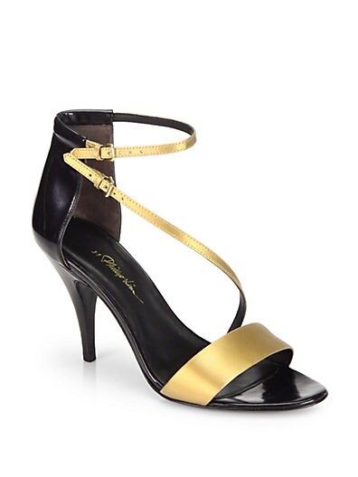 Quill Two-Tone Leather Sandals