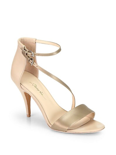 Quill Metallic Leather Sandals