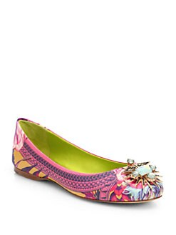 Ivy Kirzhner - Tresor Jeweled Leather Ballet Flats